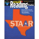 Newmark Learning, STAAR Reading Practice: Grade 5, 8.5 x 11 Inches, Paperback, 144 Pages
