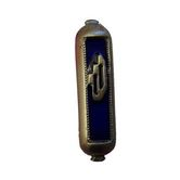 Holy Land Gifts, Mezuzah for the Car, Brass, Blue, 2 inches