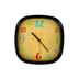 TooCute Collection, Decorative Clock,  Black Frame, 9 1/2 Inches Square