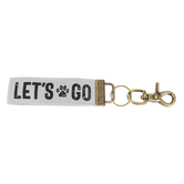 Open Road Brands, Lets Go Paw Print Key Chain, 8 1/4 x 1 1/4 inches