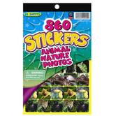 Eureka, Animal Nature Photos Sticker Book, 5.75 x 9.5 Inches, Multi-Colored, Book of 860