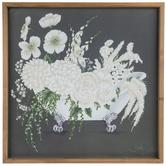 Bathtub Floral Arrangement Wall Decor, MDF, Dark Gray, 23 7/8 x 23 7/8 x 1 1/2 inches