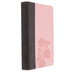 NLT Slimline Center-Column Reference Bible, Duo-Tone, Pink and Brown