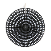 Brother Sister Design Studio, Buffalo Check Paper Fans, Black & White, 15 3/4 x 14 inches, Set of 6