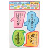 Scholastic, Conversation Starters: Bulletin Board Set, Multi-colored, 19 Pieces, Grades 1-5