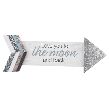Imagine Design, Love You To The Moon and Back Arrow Magnet, 5 1/8 x 1 7/8 inches
