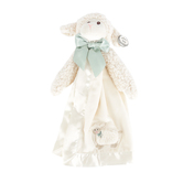 Bearington Baby Collection, Plush Lamby Snuggler Blanket, Cream, 15 inches