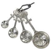 Ganz, Blessed Beyond Measure Cross Measuring Spoons, Zinc, Silver, 1 Each of 4 Spoons