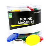 Make A Note, Round Magnets, 1-Inch, Multi-Colored, Pack of 40