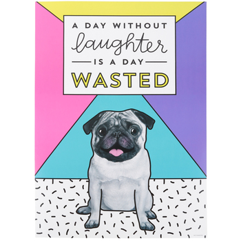 Renewing Minds, A Day Without Laughter Motivational Poster, 13.25 x 19 Inches, 1 Piece