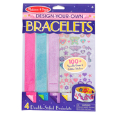 Melissa & Doug, Design Your Own Bracelets Craft Kit, 49 Pieces, Grades PreK-2
