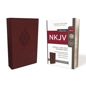 NKJV Compact Reference Bible, Large Print, Imitation Leather, Multiple Colors Available