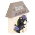 Blossom Bucket, Beware The Cat Is Shady Figurine, Resin, 3 3/4 x 3 1/4 inches
