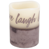 Live, Laugh, Love Scented LED Pillar Candle, 3 x 4 Inches