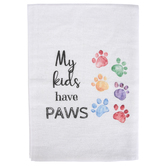 Southern Sisters Home, My Kids Have Paws Tea Towel, Cotton, 30 x 30 inches