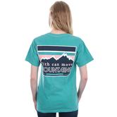 Beautifully Blessed, Matthew 17:20, Move Mountains, Women's Short Sleeve T-Shirt, Seafoam, Small
