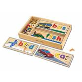 Melissa & Doug, Wooden See & Spell Learning Toy, Ages 4 to 6 Years Old, Over 58 Pieces