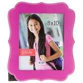 Green Tree Gallery, Quatrefoil Photo Frame, Wood, Hot Pink, 8 x 10 inches