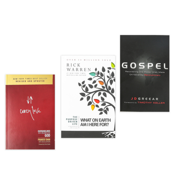 Purpose Driven Life, Crazy Love, and Gospel Set, by Rick Warren, Francis Chan, and J. D. Grear