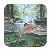Legacy Publishing Group, Rainbow Trout Fishing Coaster, 3 3/4 inches
