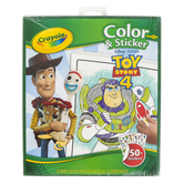 Crayola, Toy Story 4 Color and Sticker Book, Paperback, 32 Pages, Ages 3 and up