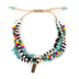 Radiant Sol, Blesssed Four Strand Beaded Bracelet, Glass and Plastic and Nylon, Assorted Colors