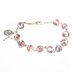 Christian Brands, Handpainted Rosary Bracelet, Pink