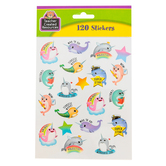 Teacher Created Resources, Narwhals Motivational Stickers, Multi-Colored, 120 Pack