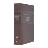 NKJV Apply The Word Study Bible, Large Print, Duo-Tone, Earth Brown and Brown