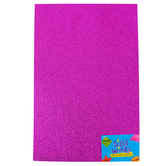 Silly Winks, Glitter Foam Sheet, Purple, 12 x 18 Inches, 1 Each