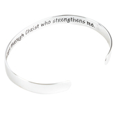 Dicksons, Philippians 4:13, I Can Do All Things Cuff Bracelet, Silver, 2 1/2 inches