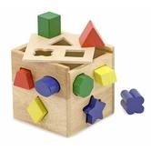 Melissa & Doug, Wooden Toy Shape Sorting Cube, Ages 2 to 4 Years Old, 13 Pieces