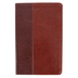 NLT Slimline Center-Column Reference Bible, Duo-Tone, Brown and Tan, Thumb Indexed