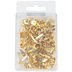 Round Paper Fastener Brads, 19 mm, Gold, 100 Pack