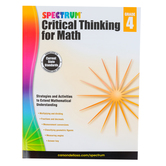 Spectrum, Critical Thinking for Math Workbook, 128 Pages, Grade 4
