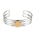 Modern Grace, Mark 11:24 Four Band Cuff with Cross Bracelet, Silver and Gold