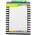 Renewing Minds, Customizable Schedule Chart, Black and White Stripes, 17 x 22 Inches, 1 Each
