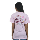 Beautifully Blessed, Fur Mama, Women's Short Sleeve T-Shirt, Pink, S-2XL