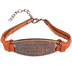 Faithworks, Threads of Faith Metal Plate Leather Bracelet, Leather & Zinc Alloy, 8 inches