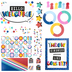 Colorfetti Collection, Customizable Welcome Bulletin Board Set, Multi-Colored, 100 Pieces