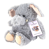 Warmies Cozy Plush Elephant, Microwavable, Lavender Scent, Gray, 13 inches