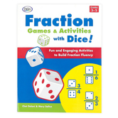 Didax, Fraction Games and Activities with Dice Resource Book, Paperback, 120 Pages, Grades 3-6