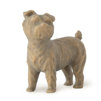 Willow Tree, Love My Dog Standing Dog Figurine, Resin, 2 inches