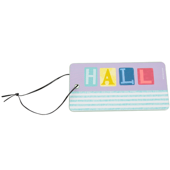 Farmhouse Lane Collection, Hall Pass, 3 x 6 Inches, Dusty Purple and Vintage Mint Green