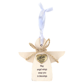 Abbey and CA Gift, Mom You Are Loved Angel Ornament, MDF, 3 3/4 inches