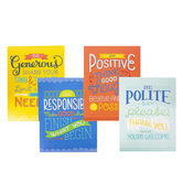 Carson-Dellosa, Positive Character Traits Mini Poster Set, 8 1/2 x 11 Inches, Pack of 12