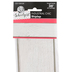 Schoolgirl Style, Shiplap Straight Borders Trim, 36 Feet, White Painted Wood with Gray Color