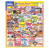 White Mountain, Cereal Boxes Puzzle, 1000 Pieces, 24 x 30 Inches