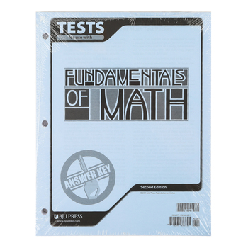BJU Press, Fundamentals of Math Tests Answer Key, 2nd Edition, Grade 7