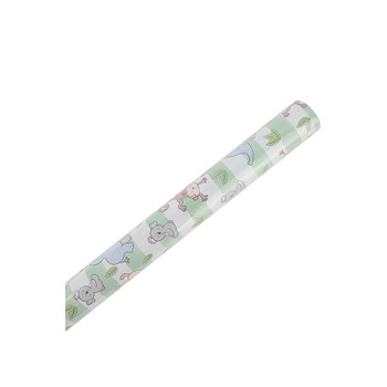 Brother Sister Design Studio, Gift Wrap Roll, Baby Safari, 50 square feet